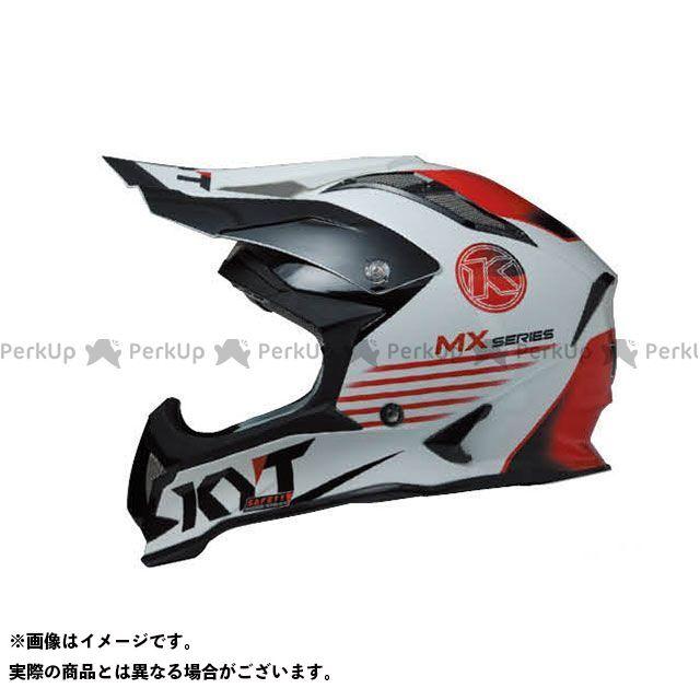 送料無料 KYT ケーワイティー オフロードヘルメット STRIKE EAGLE K-MX シリーズ ホワイト/レッド XL/61-62cm