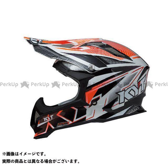 送料無料 KYT ケーワイティー オフロードヘルメット STRIKE EAGLE ストライプ レッド フロー M/57-58cm