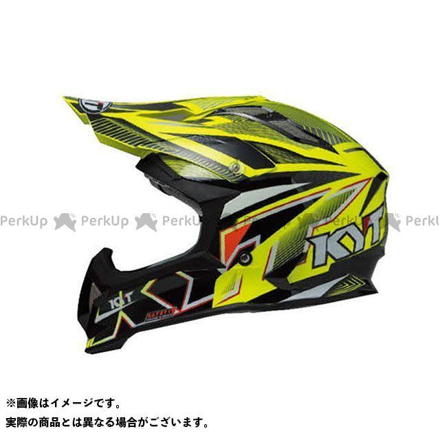 ケーワイティー オフロードヘルメット STRIKE EAGLE ストライプ カラー:イエロー フロー サイズ:XL/61-62cm KYT