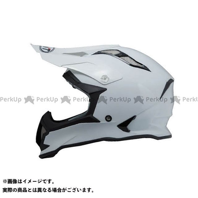 送料無料 KYT ケーワイティー オフロードヘルメット STRIKE EAGLE ソリッドホワイト M/57-58cm