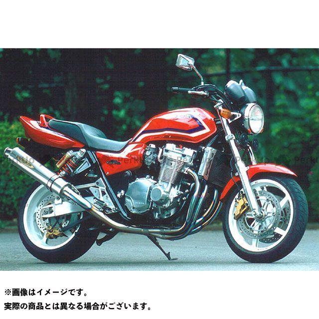 STRIKER CB1300スーパーフォア(CB1300SF) マフラー本体 SUPER STRIKER TITAN チタンフルエキゾースト サイレンサー:チタンヒートカラー ストライカー