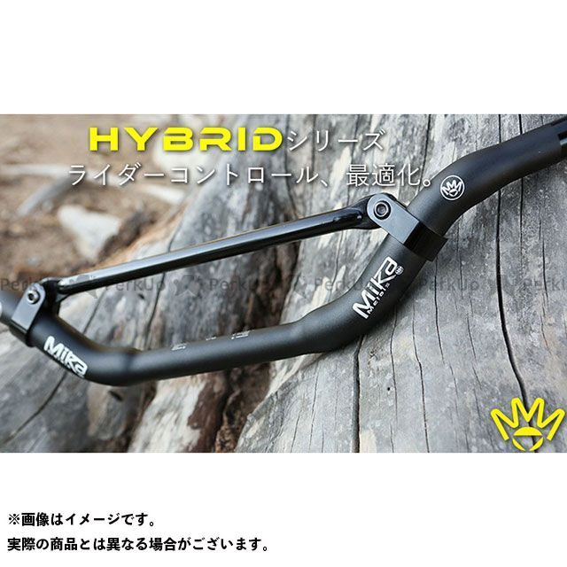 MIKAメタルズ 汎用 ハンドル関連パーツ Hybrid シリーズハンドルバー(7/8ベースの大径バー) ブラック MINI HIGH