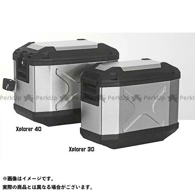 【エントリーで更にP5倍】HEPCO&BECKER ツーリング用バッグ XPLORER サイドケース 40 カラー:シルバー タイプ:左側 ヘプコアンドベッカー