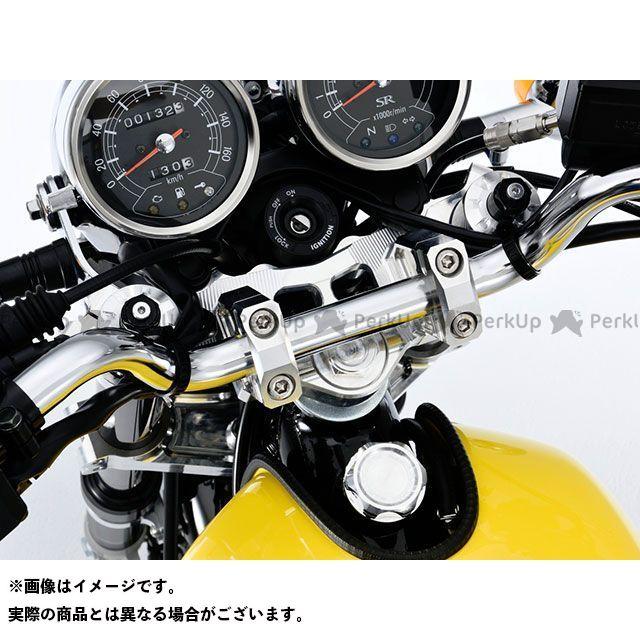送料無料 OVER RACING SR400 トップブリッジ関連パーツ ステムキット(シルバー)