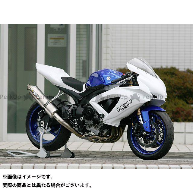 STRIKER GSX-R600 GSX-R750 マフラー本体 RACING CONCEPT チタンフルエキゾースト サイレンサー:チタンミラーフィニッシュ ストライカー