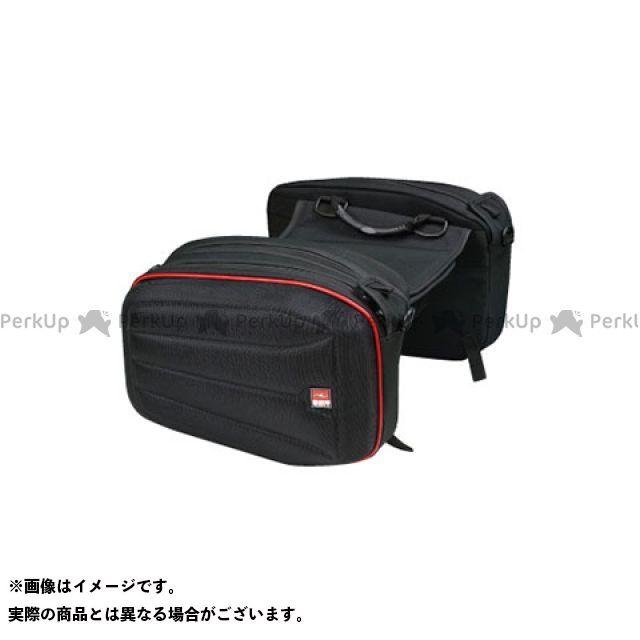 ラフアンドロード ツーリング用バッグ RR9111 SHMサイドバッグSS カラー:H.ブラック×レッド ラフ&ロード