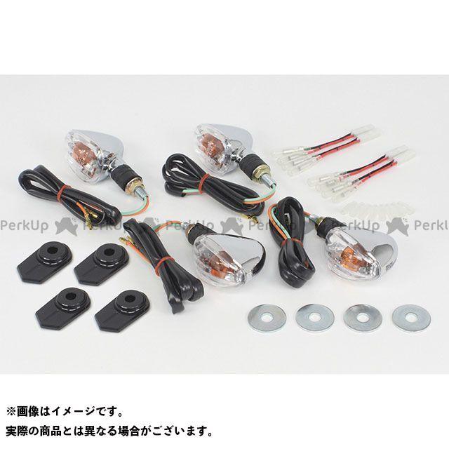 【無料雑誌付き】TAKEGAWA Z125プロ ウインカー関連パーツ ストリームラインウインカーキット カラー:メッキボディー SP武川