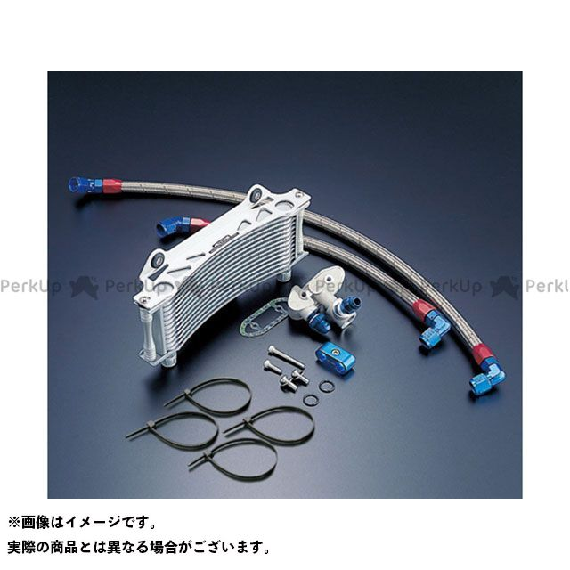 ACTIVE GSX1100Sカタナ オイルクーラー オイルクーラーキット(サイド廻し) ラウンド #8 9-13R サーモ対応キット シルバー