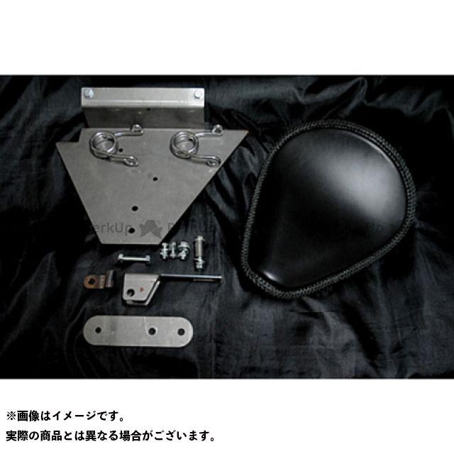 ブヒンヤケーアンドダブリュー ドラッグスター1100(DS11) シート関連パーツ DS1100専用ソロシートKIT スプリングタイプ(本革レース編み込みサドルシート) カラー:黒 部品屋K&W