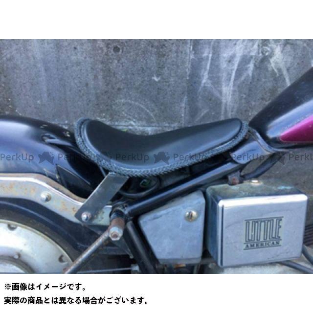 ブヒンヤケーアンドダブリュー ジャズ シート関連パーツ JAZZ50ソロシートKIT(本革レース編み込みサドルシート) カラー:黒 部品屋K&W