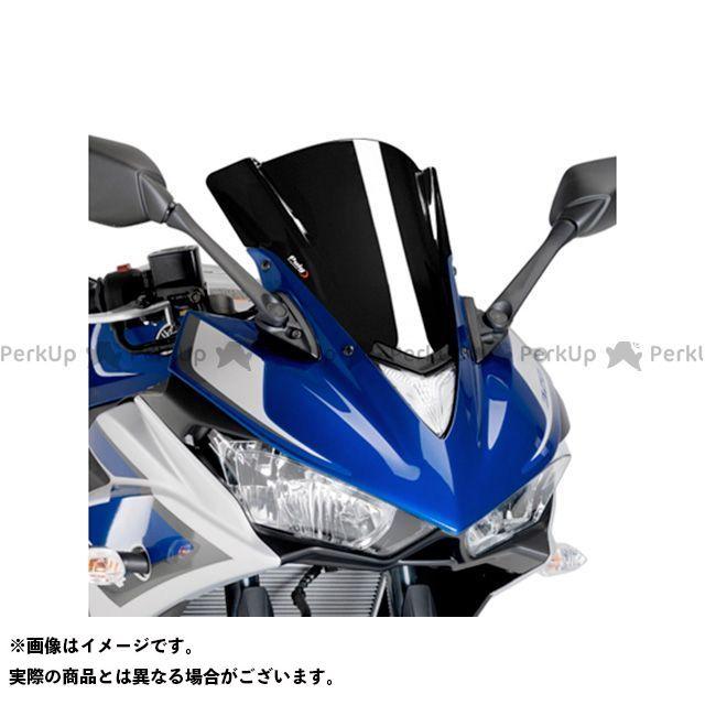 【エントリーで更にP5倍】Puig YZF-R25 YZF-R3 スクリーン関連パーツ レーシングスクリーン カラー:ブラック プーチ