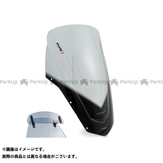 【エントリーで更にP5倍】Puig FZ6フェザーS2 スクリーン関連パーツ ツーリングスクリーン バイザー付(スモーク) プーチ