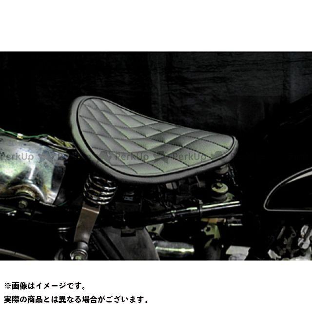 ブヒンヤケーアンドダブリュー SR400 SR500 シート関連パーツ 専用ソロシートKIT スプリングタイプ(ステッチ) ダイヤ 薄茶 部品屋K&W
