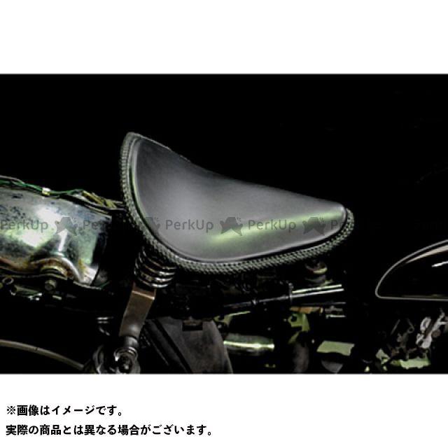 ブヒンヤケーアンドダブリュー SR400 SR500 シート関連パーツ 専用ソロシートKIT スプリングタイプ(本革レース編み込みサドルシート) カラー:黒 部品屋K&W