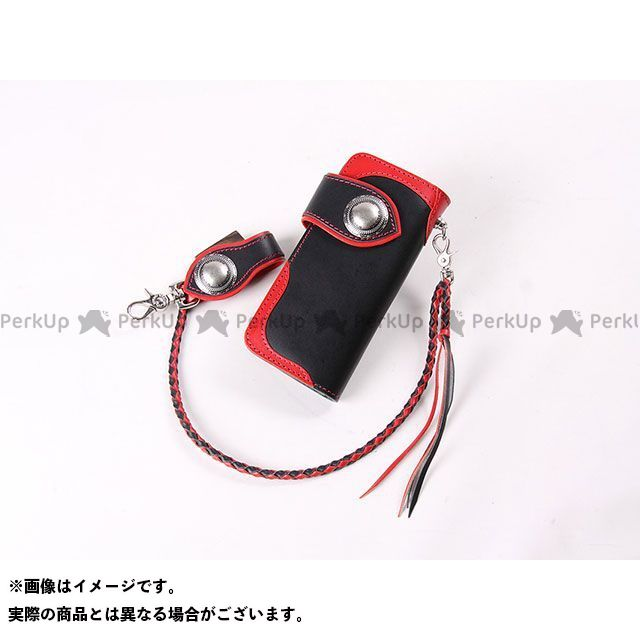 デグナー 財布 W-90 レザーウォレット カラー:ブラック/レッド DEGNER