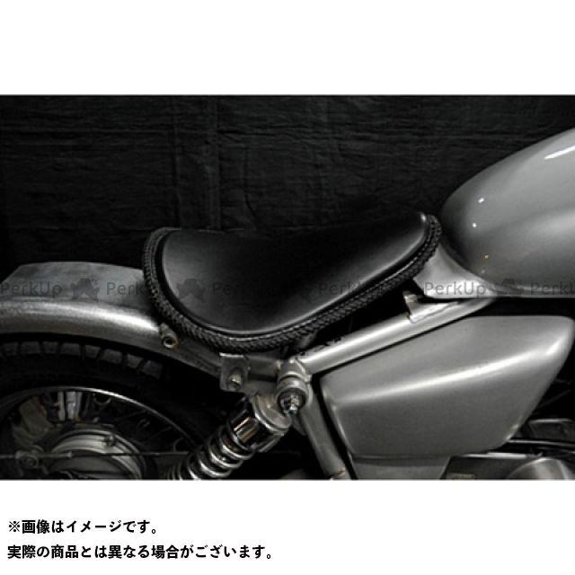 ブヒンヤケーアンドダブリュー マグナ50 シート関連パーツ Magna50用 フラットフェンダー対応ソロシートKIT リジットタイプ(本革レース編み込みサドルシート) 黒