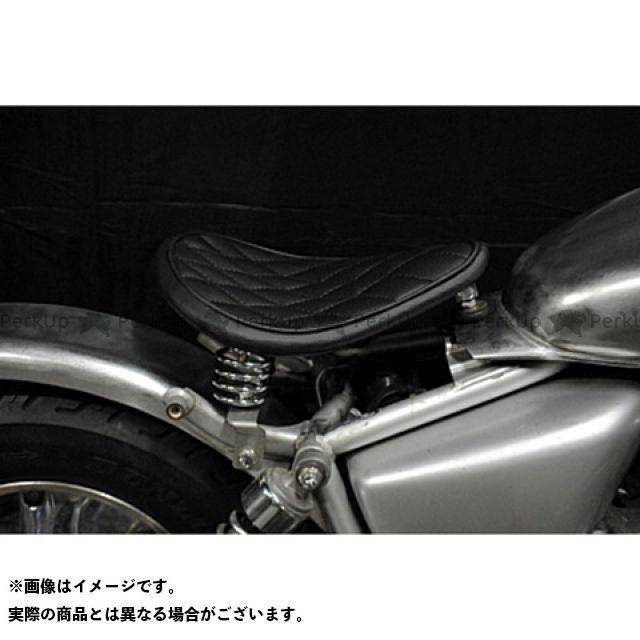 ブヒンヤケーアンドダブリュー マグナ50 シート関連パーツ Magna50用 フラットフェンダー対応ソロシートKIT スプリングタイプ(ステッチ) ダイヤ 薄茶