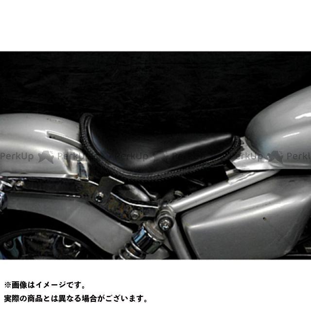 ブヒンヤケーアンドダブリュー マグナ50 シート関連パーツ Magna50用 純正フェンダー対応ソロシートKIT リジットタイプ(本革レース編み込みサドルシート) 黒