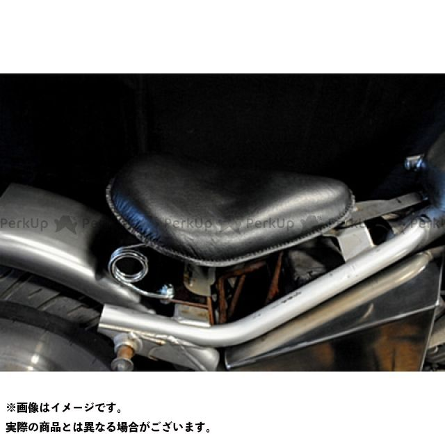 【エントリーで更にP5倍】ブヒンヤケーアンドダブリュー Vツインマグナ シート関連パーツ Magna250用 専用ソロシートKIT スプリングタイプ(本革サドルシート) カラー:黒 部品屋K&W