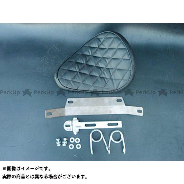 ブヒンヤケーアンドダブリュー スティード400 シート関連パーツ 専用ソロシートKIT スプリングタイプ(ステッチ) ダイヤ 黒