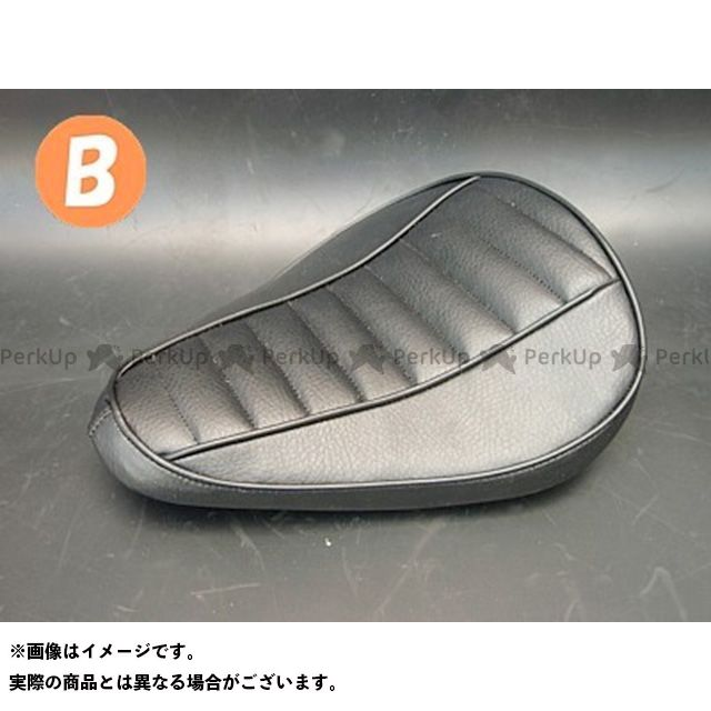 ブヒンヤケーアンドダブリュー シャドウ400 シート関連パーツ SHADOW専用ソロシートKIT スプリングタイプ(ステッチ) Bタイプ 黒