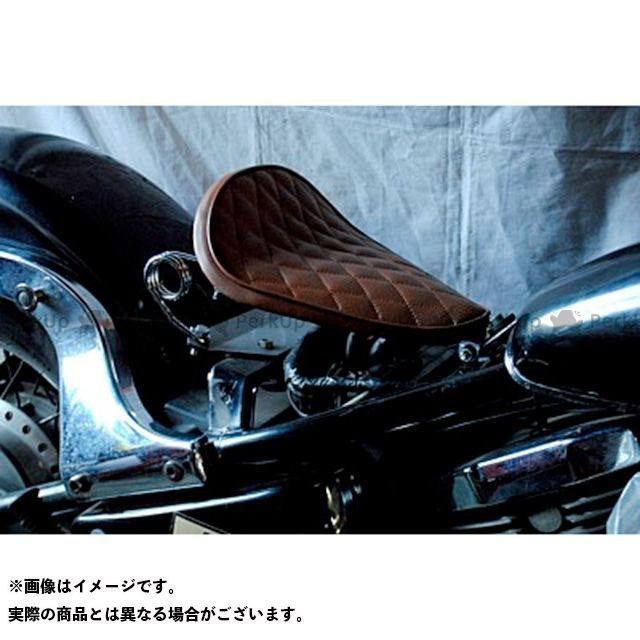 【エントリーで更にP5倍】ブヒンヤケーアンドダブリュー バルカン400 シート関連パーツ 専用ソロシートKIT スプリングタイプ(ステッチ) タイプ:Eタイプ カラー:赤茶 部品屋K&W