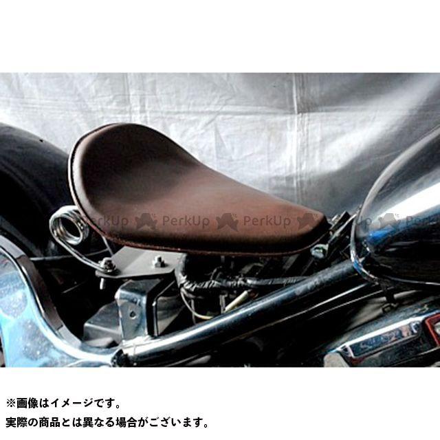 ブヒンヤケーアンドダブリュー バルカン400 シート関連パーツ 専用ソロシートKIT スプリングタイプ(本革サドルシート) カラー:黒 部品屋K&W