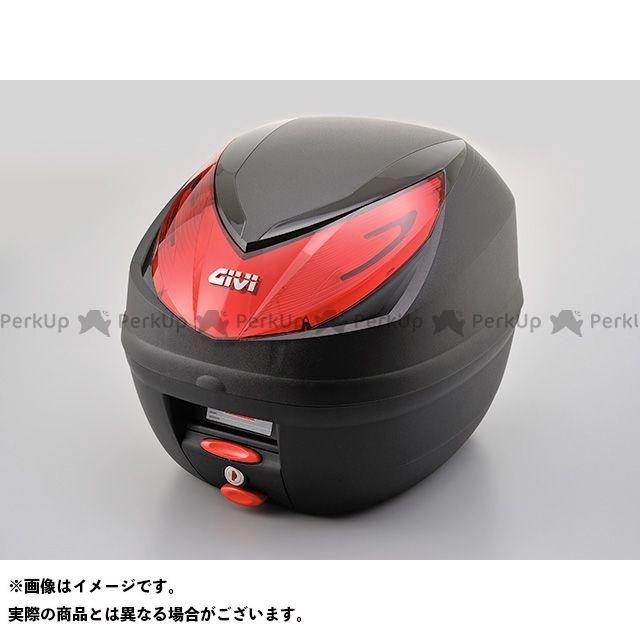 【エントリーで更にP5倍】GIVI ツーリング用ボックス モノロックケース E250N2 WILDCAT(ストップランプ無し) 未塗装ブラック/赤レンズタイプ ジビ