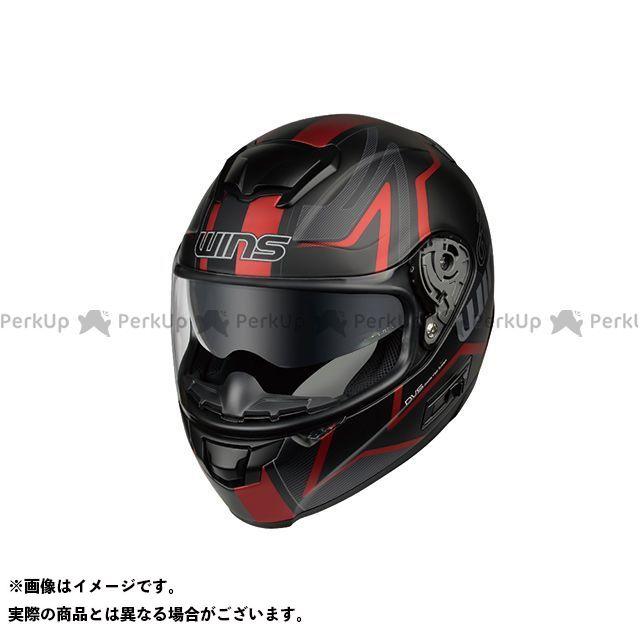 送料無料 WINS ウインズ フルフェイスヘルメット FF-COMFORT マットブラック×レッド M/57-58cm
