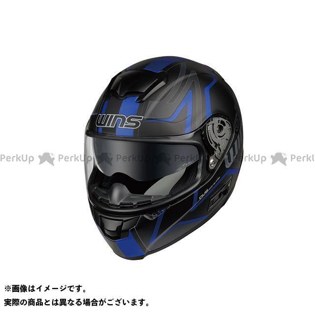 送料無料 WINS ウインズ フルフェイスヘルメット FF-COMFORT マットブラック×ブルー M/57-58cm