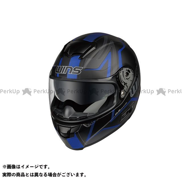 ウインズヘルメット WINS 無料 フルフェイスヘルメット ヘルメット 無料雑誌付き FF-COMFORT サイズ:L カラー:マットブラック×ブルー 希少 58-59cm