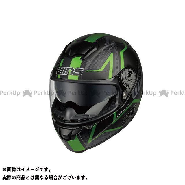 送料無料 WINS ウインズ フルフェイスヘルメット FF-COMFORT マットブラック×グリーン M/57-58cm