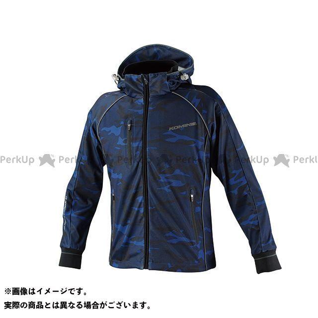 KOMINE カジュアルウェア JK-113 スムースメッシュジャージパーカ-ザネ カラー:ブルー カモ サイズ:S コミネ