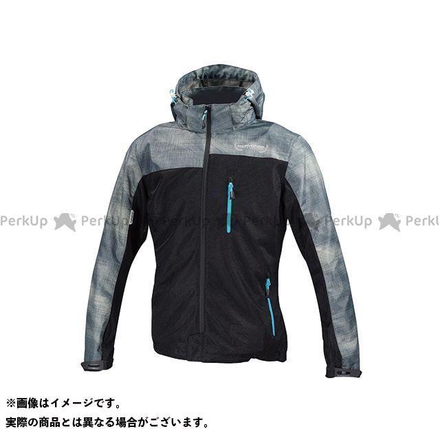 送料無料 コミネ KOMINE カジュアルウェア JK-114 プロテクトメッシュパーカ-テン スモーク/ブラック L