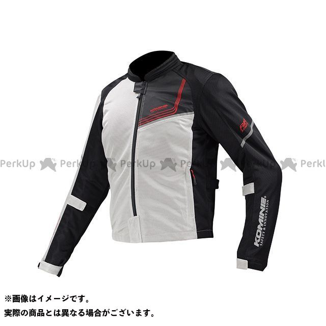 KOMINE ジャケット JK-117 プロテクトフルメッシュジャケット-ジモン カラー:シルバー/ブラック サイズ:M コミネ