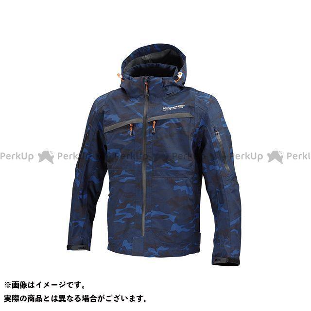KOMINE カジュアルウェア JK-122 WP プロテクション 3Lパーカ-ゲン カラー:ブルー カモ サイズ:L コミネ