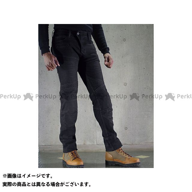 送料無料 コミネ KOMINE パンツ PK-718II スーパーフィットケブラーデニムジーンズ ブラック L/32