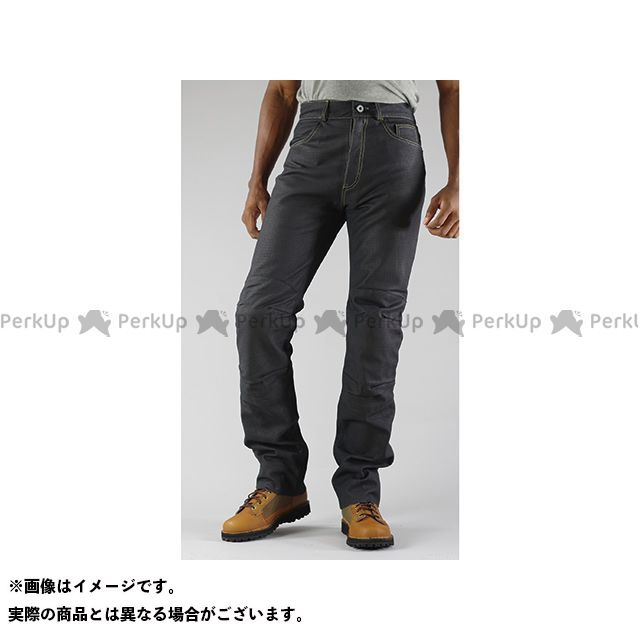 KOMINE パンツ PK-632 プレミアムベントレザージーンズ カラー:ブラック サイズ:L コミネ
