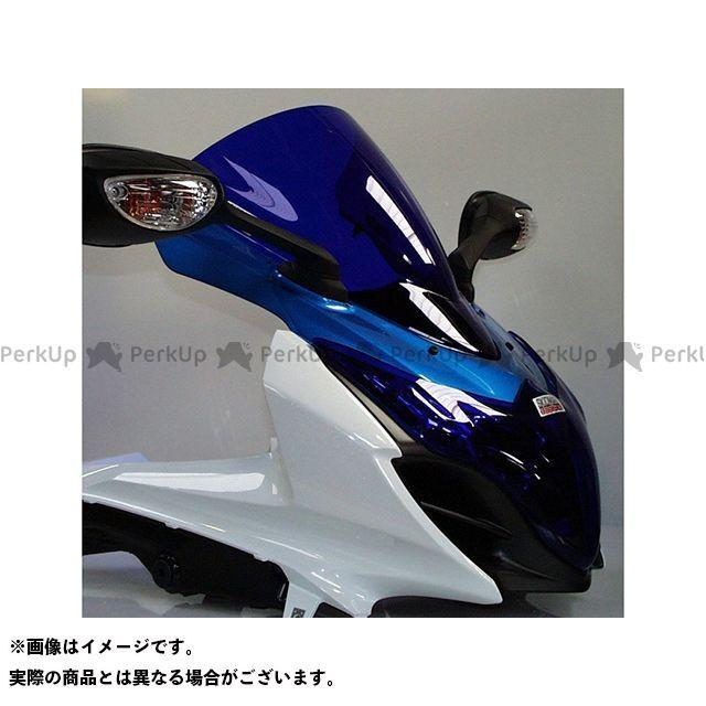 【エントリーで更にP5倍】Skidmarx GSX-R1000 スクリーン関連パーツ ウィンドスクリーン ダブルバブルタイプ カラー:ブルー スキッドマークス