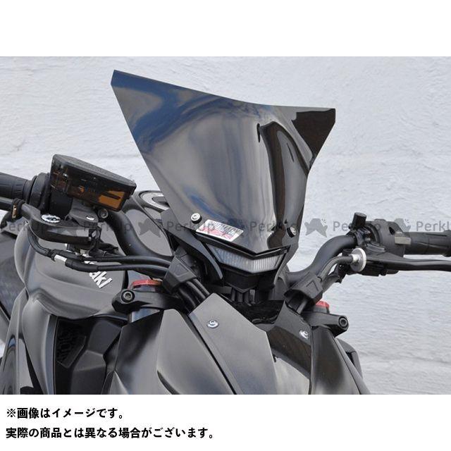 【エントリーで更にP5倍】Skidmarx Z1000 スクリーン関連パーツ フライウィンドスクリーン ダブルバブルタイプ カラー:ライトスモーク スキッドマークス