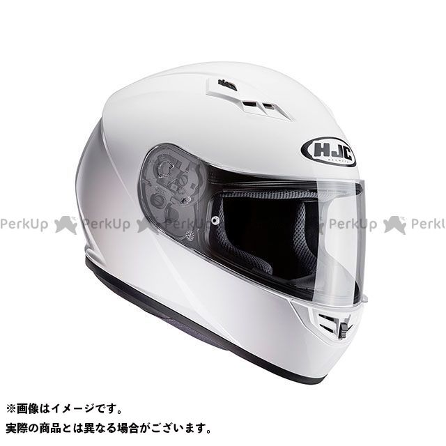 送料無料 HJC エイチジェイシー フルフェイスヘルメット HJH113 CS-15 ソリッド ホワイト XL/61-62cm