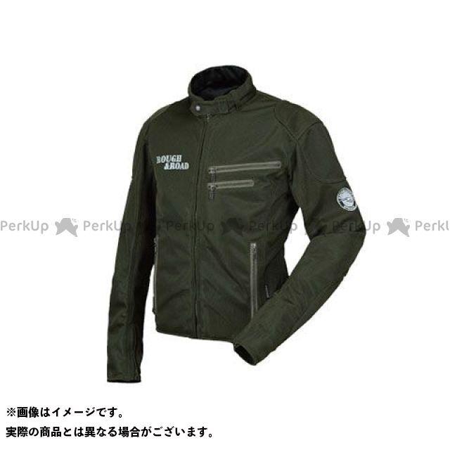 ラフアンドロード ジャケット RR7308 ライディングZIPメッシュジャケットEM カラー:オリーブ サイズ:M ラフ&ロード