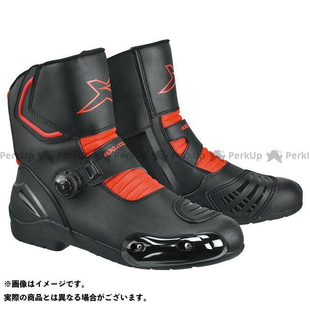 エグザスター レーシングブーツ E-SBR2141W ダイヤル式プロテクションショートレーシングブーツ ブラック/レッド 42/26.5cm EXUSTAR