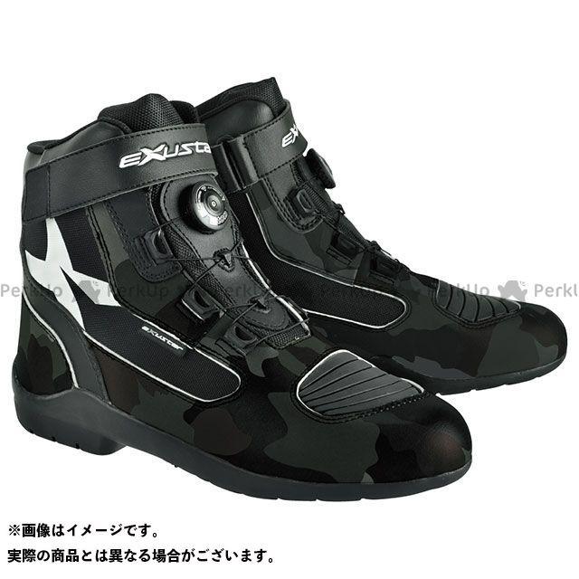 エグザスター ライディングブーツ E-SBT271W ダイヤル式ライディングブーツ ブラック/カモフラ 44/27.5cm EXUSTAR