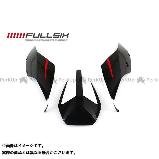 FULLSIX 1199パニガーレ カウル・エアロ 1199 シートカウル3点セット ホワイト コーティング:クリアコート カーボン繊維の種類:245Twill 綾織り フルシックス