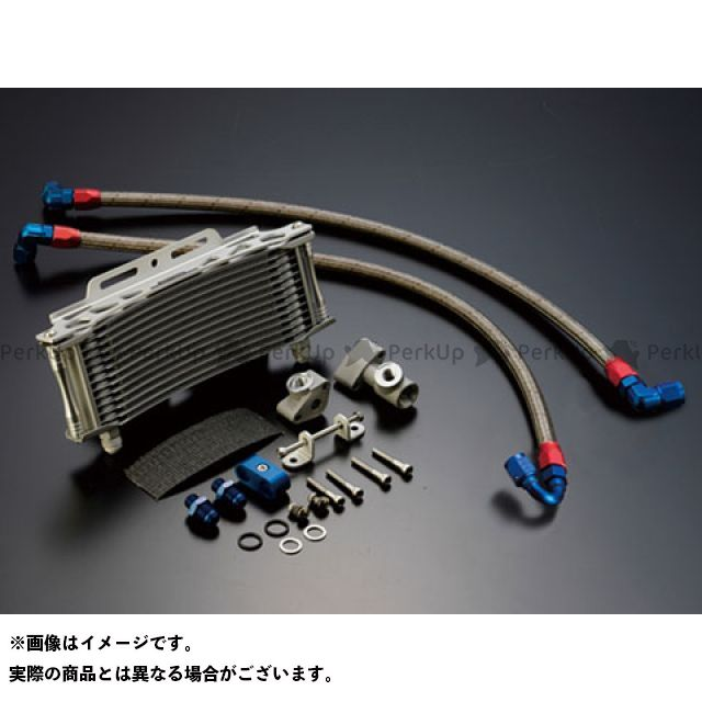 アクティブ ACTIVE オイルクーラー 冷却系 ACTIVE オイルクーラー オイルクーラーキット(サイド廻し) ラウンド #8 9-13R サーモ対応キット シルバー アクティブ