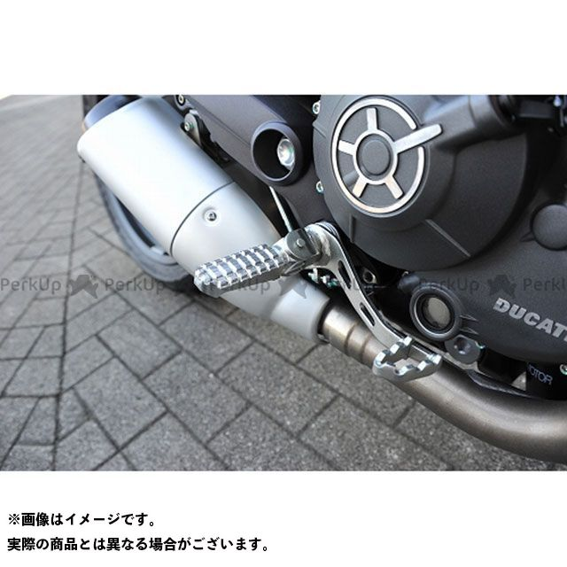 【無料雑誌付き】AELLA スクランブラー シックスティー2 ステップ ライディングステップバー カラー:ブラック アエラ
