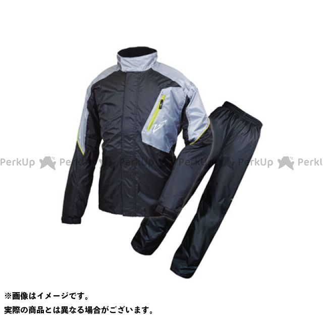 【無料雑誌付き】ラフアンドロード レインウェア RR7808 デュアルテックスレインスーツ カラー:ブラック サイズ:BM ラフ&ロード