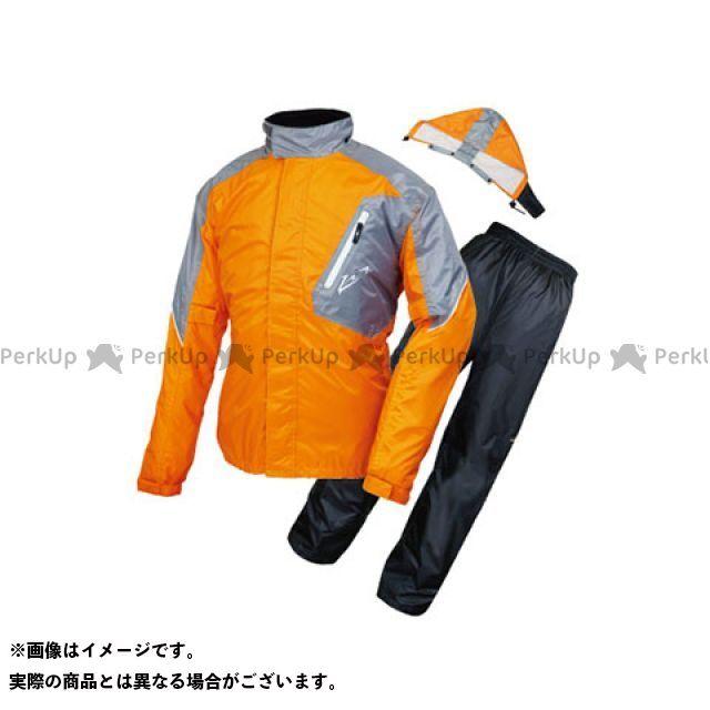 【無料雑誌付き】ラフアンドロード レインウェア RR7808 デュアルテックスレインスーツ カラー:オレンジ サイズ:M ラフ&ロード