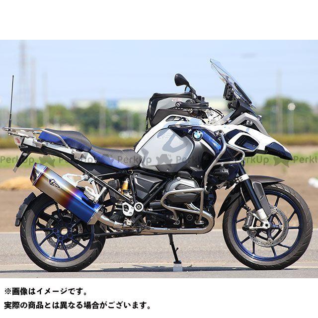 【エントリーで更にP5倍】R's GEAR R1200GS R1200GSアドベンチャー マフラー本体 ワイバンリアルスペック シングルタイプ サイレンサー:チタンドラッグブルー アールズギア